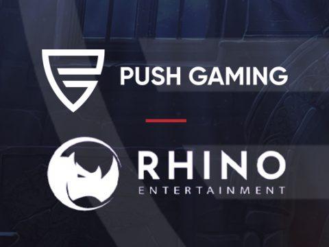 Push Gaming har inngått en avtale med Rhino Entertainment Banner